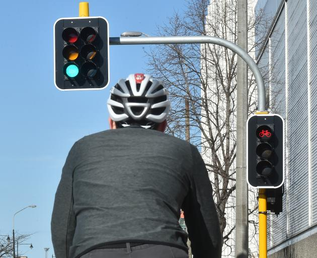 Cyclists using the new one-way cycle paths are sometimes having to  wait for almost two full...
