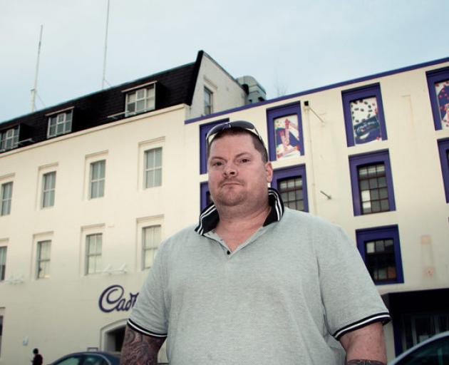Jason Welch in front of the Cadbury building, where he worked for 19 years Photo: RNZ / Kate Newton