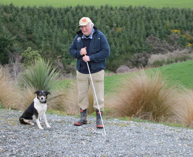 Ferndale farmer Henry McFadzien and 2-year-old farm dog Joy. PHOTO: ASHLEIGH MARTIN