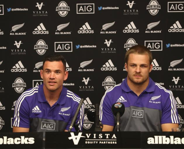 Ryan Crotty (left) and Sam Cane. Photo: Getty Images