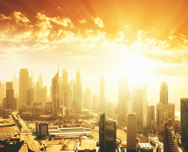 Dubai's summer heat drives its inhabitants inside. Fortunately, it does very well. Photo: Getty...