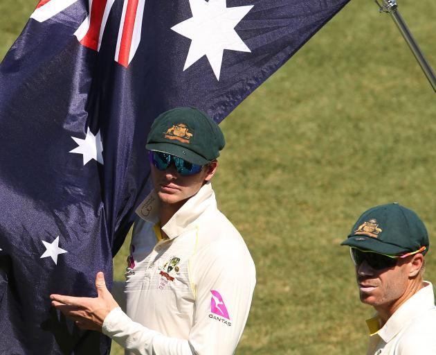 Former Australia captain Steve Smith (left) and David Warner. Photo: Getty Images