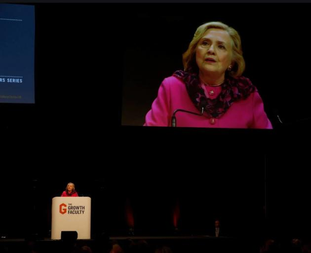 Hillary Clinton talked up Professor Brady's research during her speech at Auckland's Spark Arena...