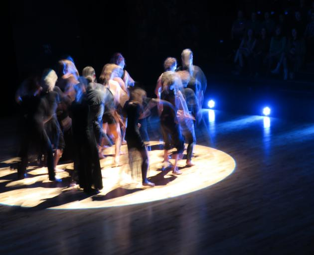 Dancers perform in Fleur de Thier's work Tipping the Balance. Photo: Supplied