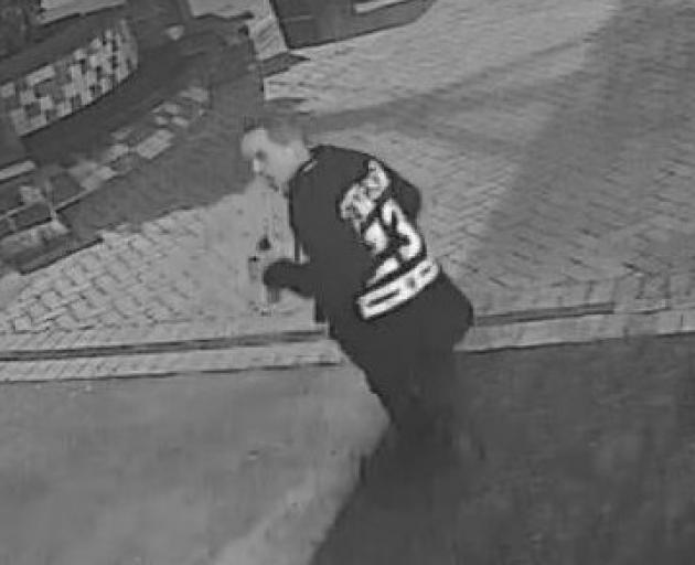 Police would like to speak to the man pictured in relation to the arson. Photo: NZ Police