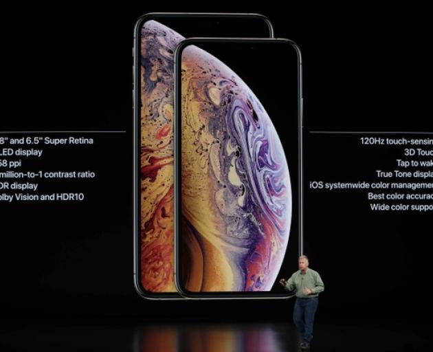 Philip W. Schiller, Senior Vice President, Worldwide Marketing of Apple, speaks about the the new Apple iPhone XS and XS Max. Photo: Reuters