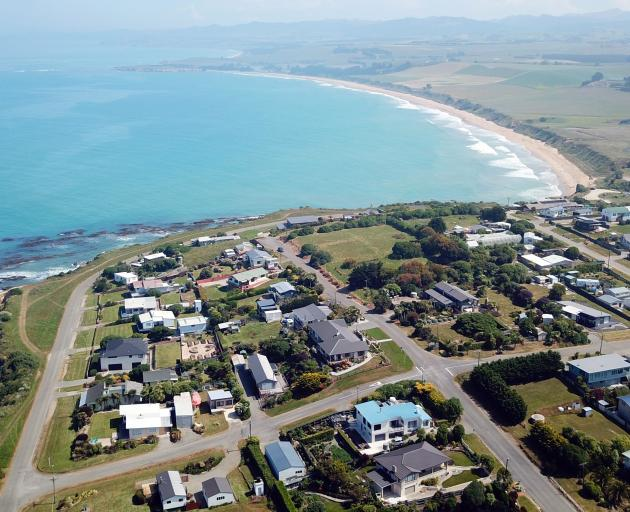 The beach at Kakanui, where Mrs Sheffield was walking. Photo: ODT files