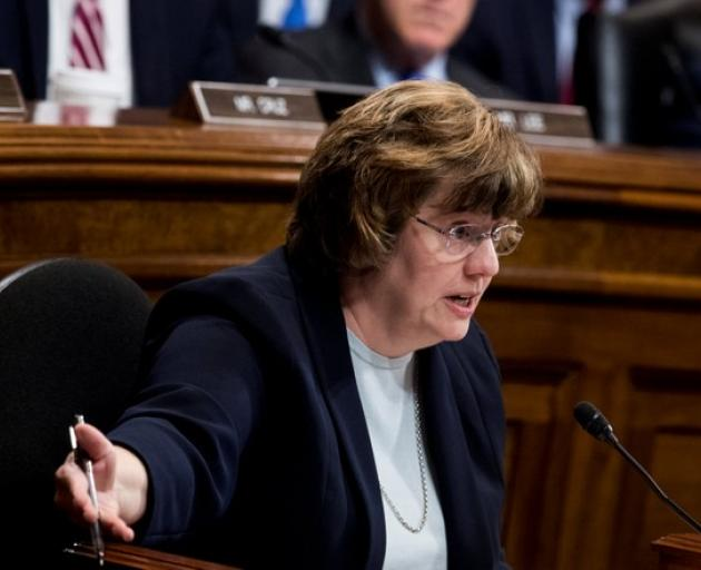 The panel's Republican senators, all men, did not question her, assigning that task to Rachel Mitchell, a sex crimes prosecutor. Photo: Reuters