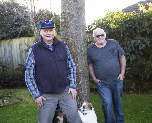 Russel Burgess (69, left) and John Buchanan (71), both of Mosgiel, say it is easy to get isolated...