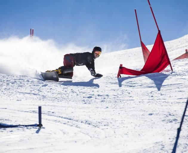 On his way to his second junior world championship title is parallel slalom snowboarder Dmitry...