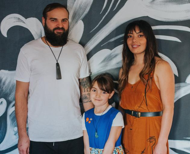Lucas Parkinson, with his partner Larrissa and daughter Tiger-Lily.