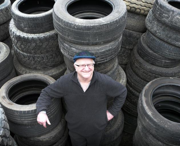 Balclutha inventor and systems analyst Dave Ward says existing solutions for tyre recycling are only storing up problems for later generations. Photo: Richard Davison