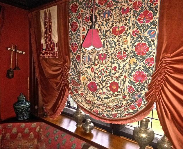 An embroidered wall hanging, a dowry piece from Uzbekistan. Photos: Supplied