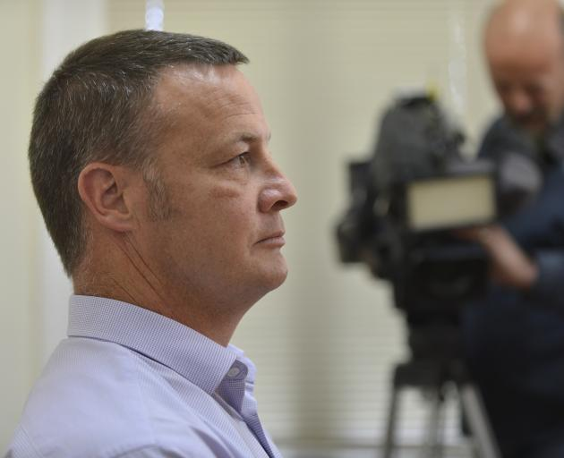 University of Otago proctor Dave Scott apologises at a press conference this afternoon. Photo:...