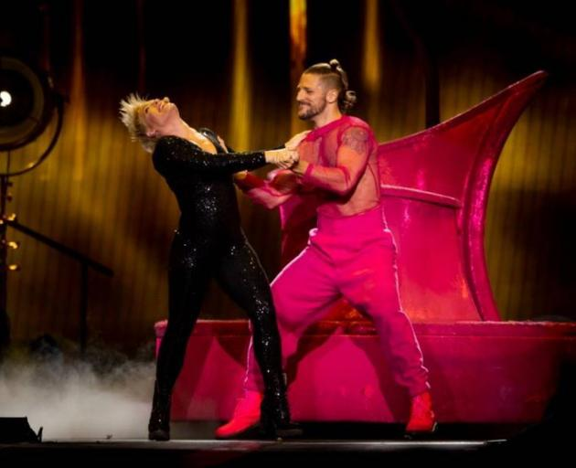 Pink kept up with her dancers impressively well. Photo: NZME