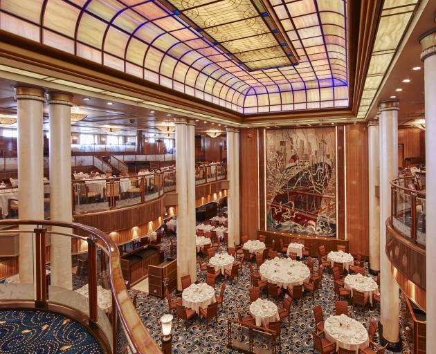 The luxury ocean liner Queen Mary 2 includes the Britannia Restaurant.