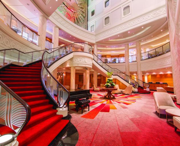 The luxury ocean liner Queen Mary 2 includes a new, six storey-high grand lobby. Photos: Supplied