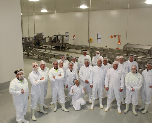 Staff and guests at the opening of the new mozzarella line at Clandeboye. Photo: Supplied