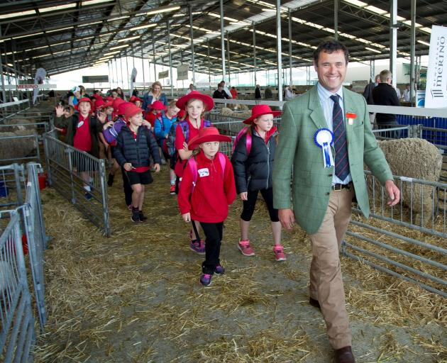 Promoting wool and encouraging young people to participate are the aims of this year's Canterbury A&P Association president Tim Black. Photo: Canterbury A&P Association