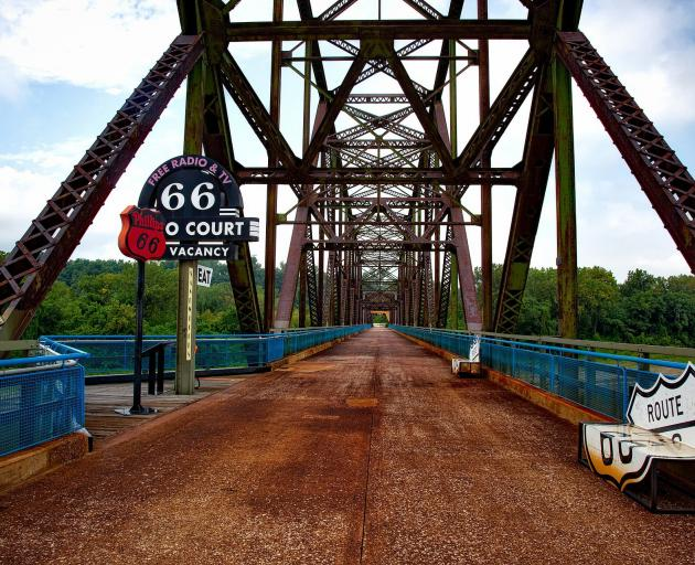 The Chain of Rocks Bridge across the Mississippi. PHOTOS: MIKE YARDLEY