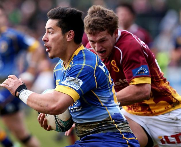 Sio Tomkinson carries the ball for Otago during its game against Southland last year. Photo:...