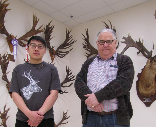 "The new World of Deer Museum, near Wanaka, opened its doors for a ""soft opening'' last week and co-founders Harry Yu (left) and Clive Jermy were delighted with the response from visitors. Photo: Mark Price"