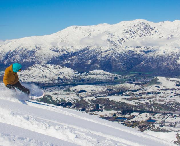 It was a stunning day for those lucky enough to be up the mountain enjoying fresh powder yesterday, including Taylor Paddington, of Queenstown, pictured at Coronet Peak. Photo: Coronet Peak/Jill Tester