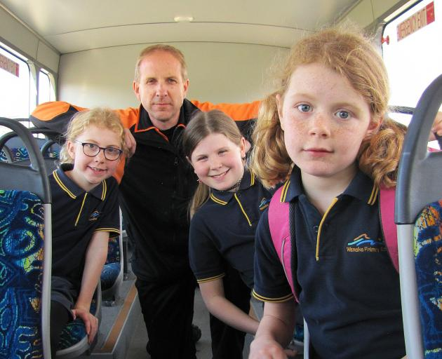 Wanaka Primary School board of trustees chairman Andrew Howard and his children (from left) Casey...
