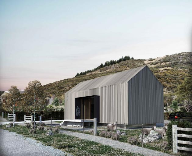 An architect's impression of Abodo Wood's planned Cardrona Valley show home, an architectural...
