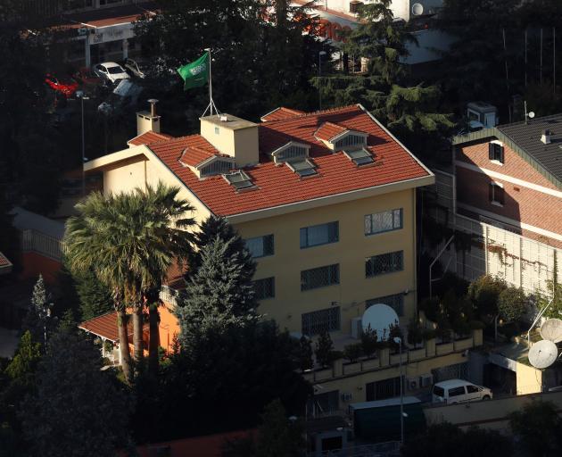 The Saudi Arabian consulate in Istanbul, where Jamal Khashoggi was allegedly killed. Photo:...