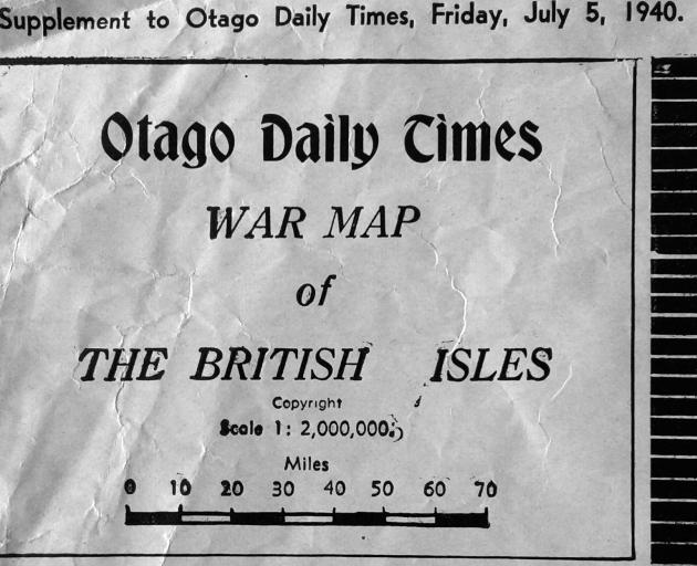 Maps of Europe, including weather maps, were hard to come by during World War 2. But the ODT put out a special supplement for readers in July 1940, consisting of a European map and a corresponding jigsaw puzzle. Brent Wallace sent us these photos after th