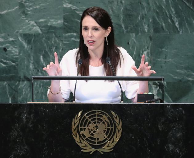 Prime Minister Jacinda Ardern speaks during the United Nations General Assembly in New York. Photo: Reuters