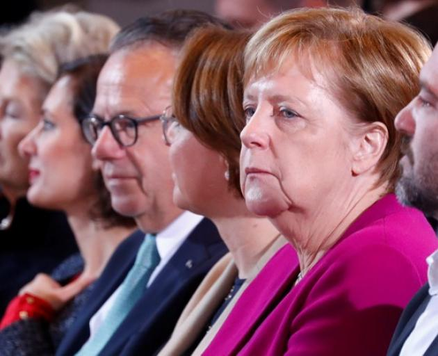 German Chancellor Merkel attends the national integration prize ceremony at the Chancellery in Berlin. Photo: Reuters