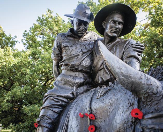 Sculptures at The Australian War Memorial.