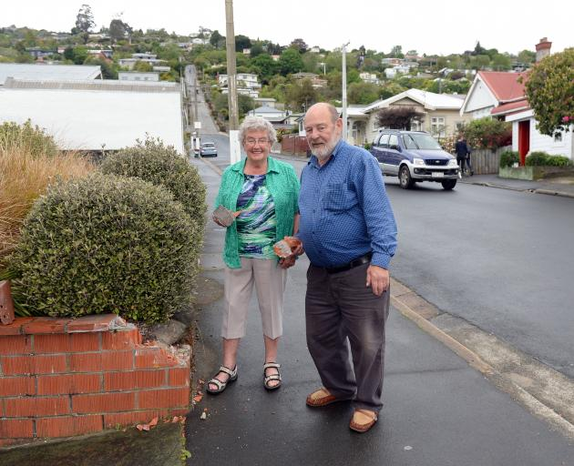 Sam and Coleen Williamson have lived in their home near the bottom of Baldwin St for 26 years and have had their share of issues with tourists who visit the street, including the man who backed a camper van into their garden wall about two months ago.