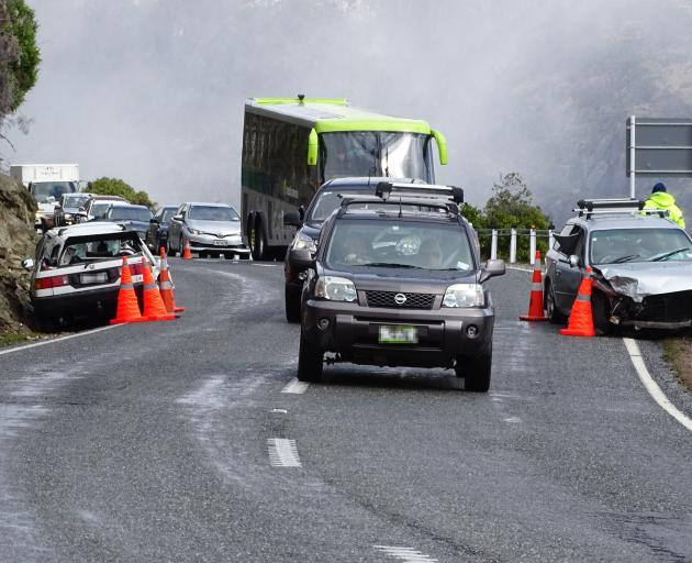 One person has been seriously injured in crash near Queenstown this afternoon. Photo: Josh Walton