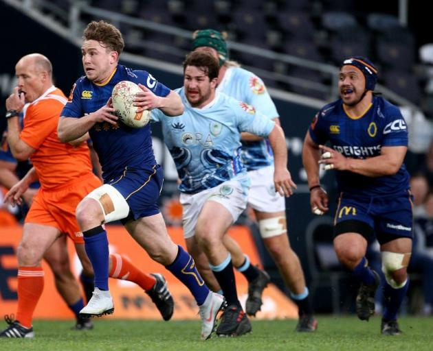 Otago No8 Dylan Nel's ball carrying will be key tonight. Photo: Getty Images