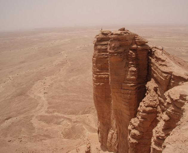 Peter Heron and his family took a trip to the 'Edge of the World' in Saudi Arabia. Photo: Deborah Heron