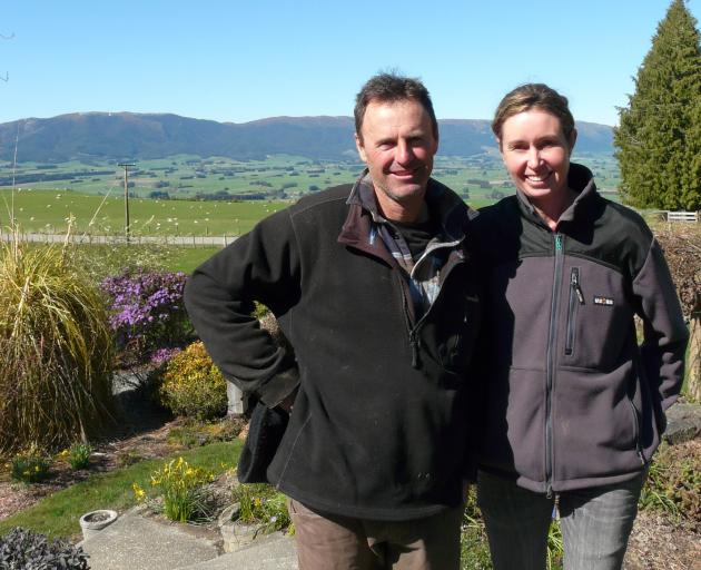 Heriot farmers Clark Scott and Judy Miller want the Pathway for the Pomahaka water care scheme...