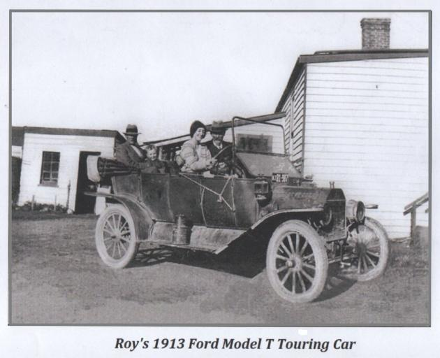 Neil Roy's grandfather's 1913 Model T Ford, taken about 1928. PHOTO: SUPPLIED