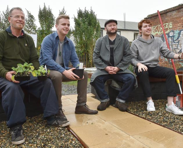Contributors to the Kiaora Peace Garden (from left) Paul MacDonald Gourlie, John Laurenson,...