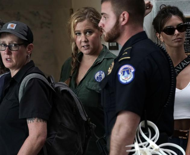 Actress and comedian Amy Schumer was one of many people arrested for protesting against the...
