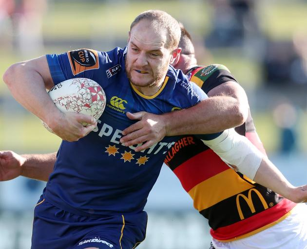 Matt Faddes busts through the line against Waikato in Hamilton. Photo: Getty Images