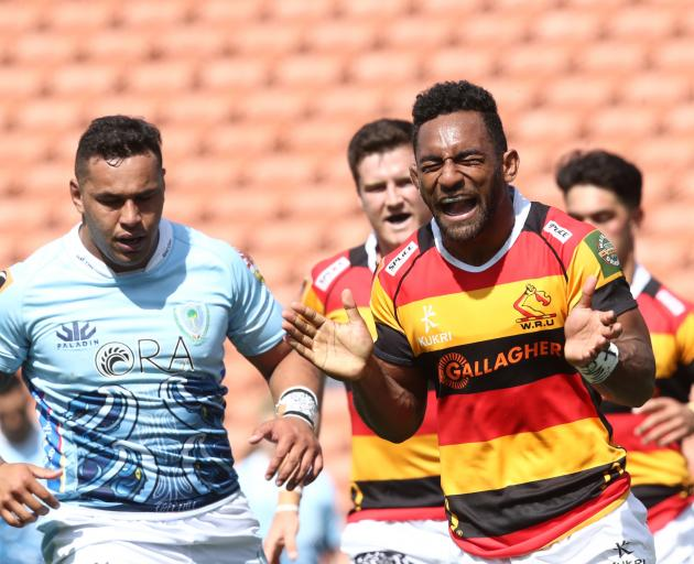Sevu Reece celebrates a try during Waikato's comeback win over Northland. Photo: Getty Images