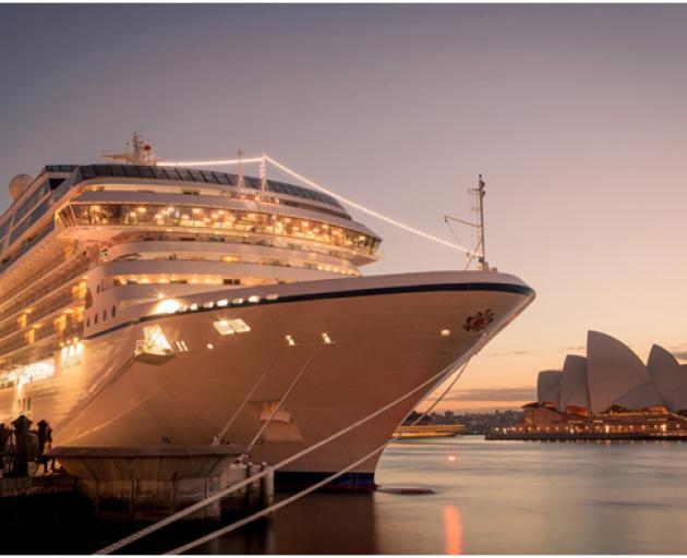 Oceania docked in Sydney.