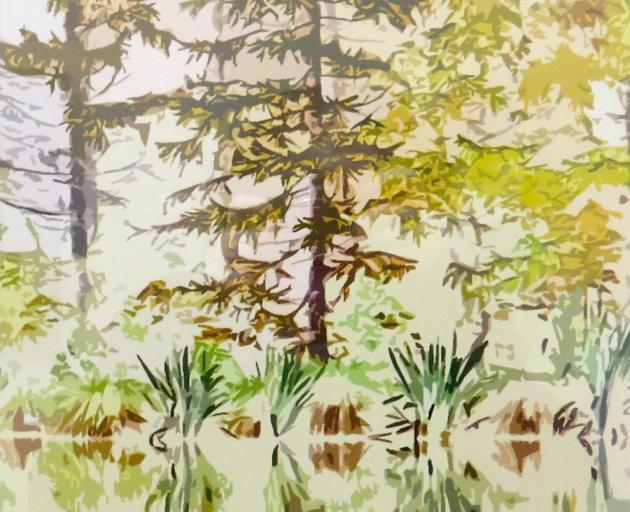 Lakeside Larches 2, by Jenny Longstaff