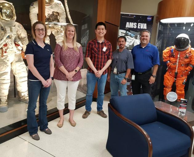 Lanaco head of technology Shaun Tan (third from left) recently visited the Johnson Space Centre in Houston. Photos: Supplied