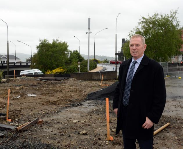 Metro Realty Ltd managing partner Mark Stevens stands on the site of the former KFC and Roosters...