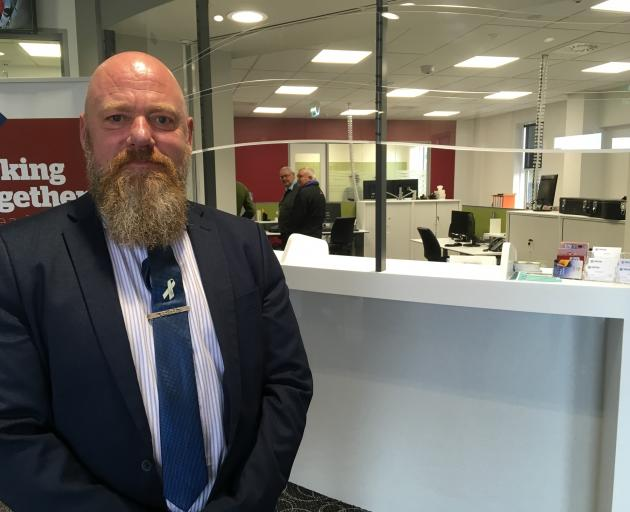 Department of Corrections Oamaru service manager Stuart Bayles at the town's new community...