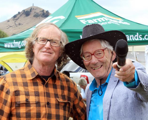 Otago Field Days chief executive Paul Mutch (left), of Palmerston, with Waitaki District Council Oamaru ward councillor Jim Hopkins. Photo: Hamish MacLean